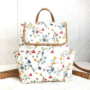 🌸OFFERS?🌸Tory Burch Leather Floral Backpack 🎒